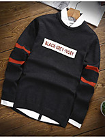 Men's Sports & Outdoor Daily Regular Pullover,Solid Shirt Collar Long Sleeves Cotton Polyester Winter Spring/Fall Medium strenchy