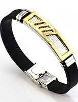 Men's Women's Link Bracelet , Basic Leather Stainless Line Jewelry For Daily