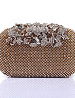 Women Bags Polyester Evening Bag Crystal Detailing Sequins for Wedding Event/Party All Season Gold