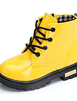 cheap -Girls' Shoes Leatherette Winter Fall Comfort Combat Boots Boots Walking Shoes Booties/Ankle Boots Lace-up For Casual Pink Fuchsia Yellow