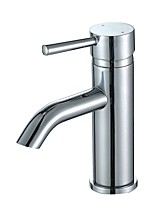 cheap -Contemporary Centerset Widespread Ceramic Valve Single Handle One Hole Chrome, Bathroom Sink Faucet