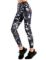 cheap -Women's Artistic Style Vintage Style Spandex Medium Stitching Print Legging,Striped Camouflage Black