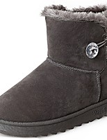 cheap -Women's Shoes Rubber Winter Snow Boots Boots Round Toe For Outdoor Brown Gray Black