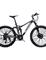 Mountain Bike Cycling 24 Speed 26 Inch/700CC SAIGUAN EF-51 Double Disc Brake Suspension Fork Soft-tail Frame Full Suspension Aluminium