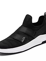 cheap -Men's Shoes PU Summer Fall Comfort Sneakers For Casual Black/Red Black/White Black