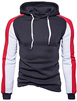 cheap -Men's Sports Holiday Hoodie Color Block Hooded Hoodies Micro-elastic Rayon Polyester Long Sleeves Winter Fall