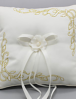 cheap -Laces Satin Silk Ring Pillows Wedding Ceremony