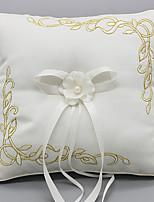 lacets satin anneau de soie oreillers cérémonie de mariage
