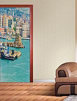 Paysage 3D Stickers muraux Autocollants muraux 3D Autocollants muraux décoratifs,Vinyle Décoration d'intérieur Calque Mural For Mur