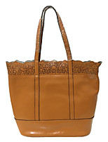 cheap -Women Bags Cowhide Shoulder Bag Flower(s) for Casual All Season Camel