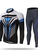 Maillot et Cuissard Long de Cyclisme Homme Manches Longues Vélo Ensemble de Vêtements Séchage rapide Pare-vent Sports d'hiver Retenant la