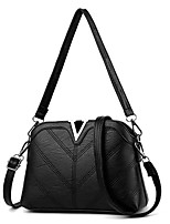 cheap -Women Bags PU Tote Zipper for Casual All Season Black Gray Purple Dark Grey Wine