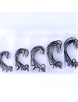 50 Curved Point Bait Casting Worm Hooks