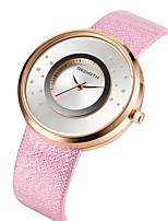 Жен. Повседневные часы Модные часы Наручные часы Китайский Кварцевый Повседневные часы Кожа Группа На каждый день Elegant Черный Белый
