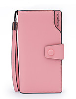 Women Bags PU Wallet Zipper for Formal Office & Career All Season Red Blushing Pink Purple Yellow Fuchsia
