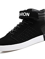Men's Shoes PU Spring Fall Comfort Sneakers For Outdoor Black/Red Black/White Black White