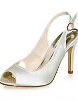 economico -Da donna Scarpe Raso Primavera Estate Decolleté scarpe da sposa A stiletto Punta aperta Perle di imitazione per Matrimonio Serata e festa