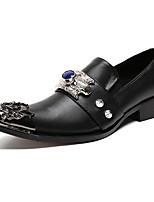 Homme Chaussures Vrai cuir Cuir Nappa Printemps Automne Confort Nouveauté Chaussures formelles Mocassins et Chaussons+D6148 Rivet Pour