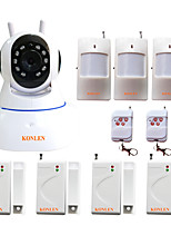 KONLEN® IP504 WIFI Burglar Home Alarm System Security House Safety Protection Intruder Video IP Camera with Wireless 433MHZ Alarming Detectors
