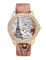 Women's Dress Watch Wrist watch Simulated Diamond Watch Chinese Quartz Imitation Diamond PU Band Luxury Flower Vintage Casual Bohemian