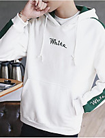 cheap -Men's Holiday Hoodie Solid Cotton Polyester