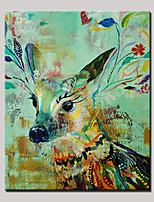 Hand-Painted Animal VerticalAnimals Modern One Panel Canvas Oil Painting For Home Decoration
