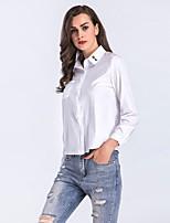 Camicia Da donna Per uscire Casual Vintage Romantico Sensuale Tinta unita Colletto Rayon Manica lunga Sottile