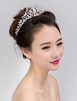 Women's Cubic Zirconia Headband,Asian Formal Style Classic Style Imitation Pearl Rhinestone All Seasons