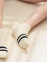 preiswerte -Damen Socken Baumwolle Solide Warm,2pcs Rosa Beige