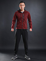 Men's Tracksuit Long Sleeves Quick Dry Tracksuit Clothing Suits for Running/Jogging Jogging Cotton Polyster Black Black/Red Grey Royal