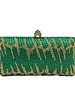 Women Bags Polyester Evening Bag Crystal Detailing for Wedding Event/Party All Season Blue Gold Green Silver Red