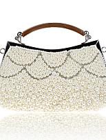 preiswerte -Damen Taschen Polyester Abendtasche Perlen Verzierung für Hochzeit Veranstaltung / Fest Alle Jahreszeiten Champagner Schwarz Beige