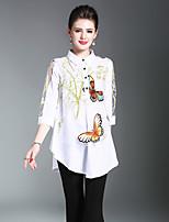 economico -Camicia Da donna Per uscire Casual Vintage Inverno Autunno,Con stampe Colletto 100% poliestere Manica a 3/4 Medio spessore