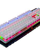 ajazz-ak49 teclado de la computadora rgb luz de fondo juego 104 - teclado usb eje negro