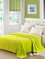 Недорогие -Супер мягкий,Сплошная Один цвет Полиэфир одеяла