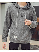 cheap -Men's Daily Going out Hoodie Print Hooded Micro-elastic Polyester Long Sleeves Winter Fall/Autumn