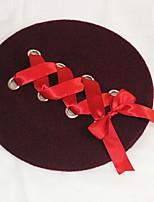 Femme Rétro Mignon Soirée Travail Décontracté Laine Tweed Bonnet / Crochet Beret Chapeau Melon / Cloche Borsalino,Mosaïque Automne Hiver
