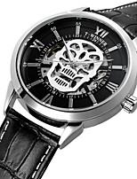 Недорогие -WINNER Муж. Модные часы Нарядные часы Наручные часы С автоподзаводом Защита от влаги С гравировкой Череп Натуральная кожа Группа Винтаж
