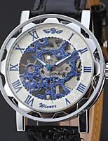 WINNER Муж. Нарядные часы Наручные часы Китайский Механические, с ручным заводом С гравировкой Кожа Группа Винтаж Elegant Черный