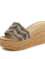 Women's Shoes PU Summer Comfort Slippers & Flip-Flops For Casual Brown