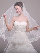 cheap -One-tier Modern/Contemporary Modern Style Simple Style Bridal Princess Wedding Wedding Veil Elbow Veils 53 Applique Tulle