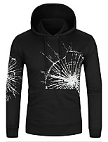 Men's Daily Casual Hoodie Print Micro-elastic Cotton Polyester Long Sleeves