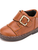 cheap -Baby Shoes Leatherette Fall Winter Comfort First Walkers Boots For Casual Yellow Black