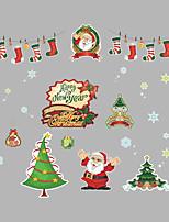 Недорогие -Рождество Праздник Наклейки Простые наклейки Декоративные наклейки на стены,Винил Украшение дома Наклейка на стену For Стена Окно