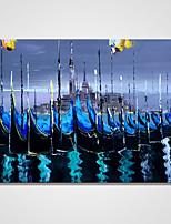 Peint à la main Abstrait Format Horizontal,Contemporain Un Panneau Toile Peinture à l'huile Hang-peint For Décoration d'intérieur