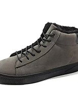 cheap -Men's Shoes PU Winter Comfort Sneakers For Casual Gray Black