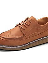 Men's Shoes PU Winter Comfort Oxfords For Casual Brown Gray Black