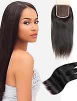 Недорогие -Натуральные волосы Реми Бразильские волосы Человека ткет Волосы Прямой силуэт Наращивание волос 4шт Черный