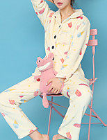 Costumes Pyjamas Femme,Nature Coton Polyester Jaune