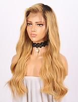 Недорогие -жен. Парики из натуральных волос на кружевной основе Бразильские волосы Натуральные волосы Реми Бесклеевая кружевная лента 150% плотность